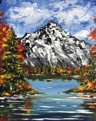 A Falling for the Mountains paint nite project by Yaymaker