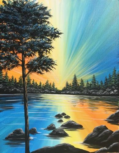 A Reverse Reflections paint nite project by Yaymaker