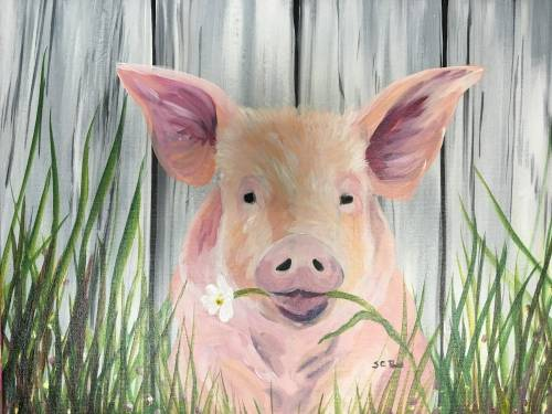 A Daisy the Pig paint nite project by Yaymaker