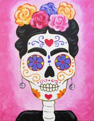 A Frida De Los Muertos paint nite project by Yaymaker