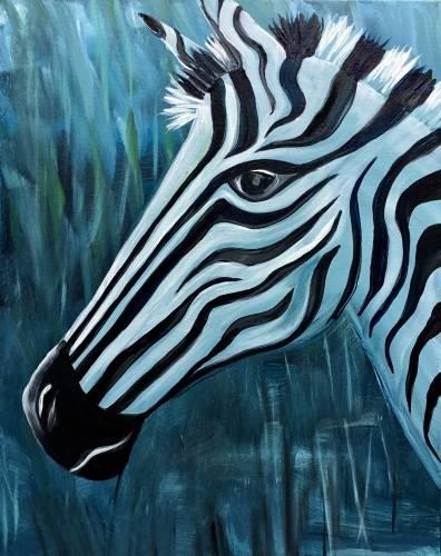 A Zebra Blues paint nite project by Yaymaker