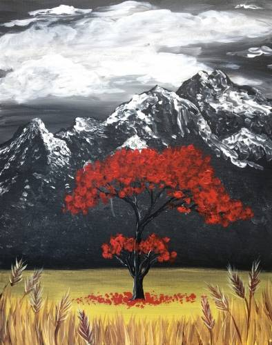 A Standing Tall in Fall paint nite project by Yaymaker