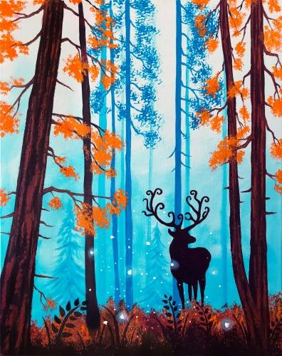 A Forest Spirit paint nite project by Yaymaker