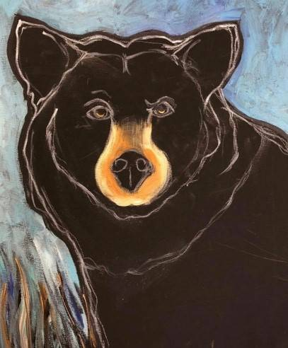 A Bear paint nite project by Yaymaker