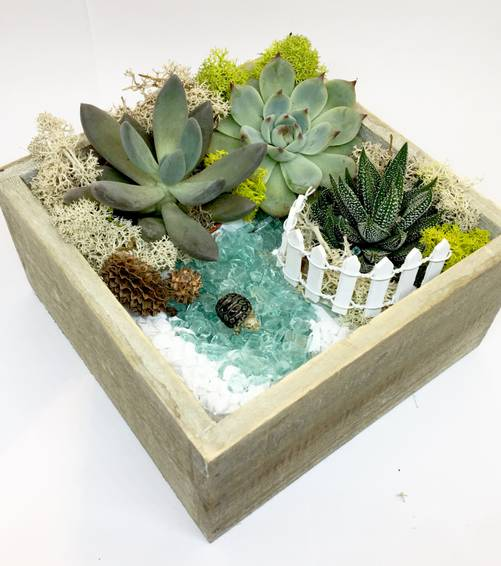 A Turtle Pond  Natural Wood Square plant nite project by Yaymaker