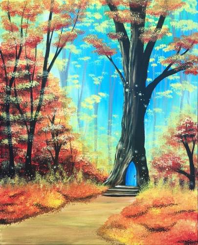 A Fall into Wonderland paint nite project by Yaymaker