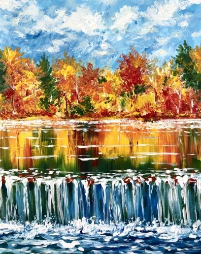 A Cascading Autumn paint nite project by Yaymaker