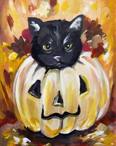 A Kitty Got PunkKinned paint nite project by Yaymaker