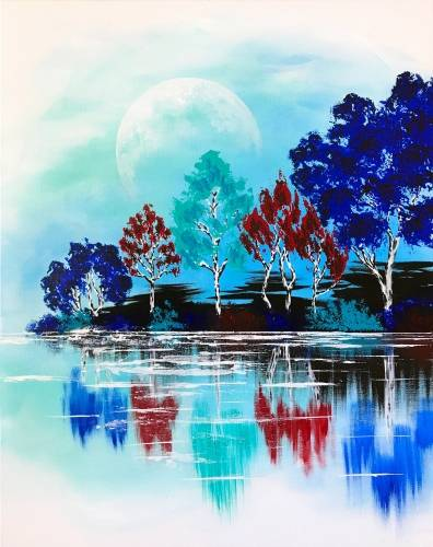 A Morning On The Lake paint nite project by Yaymaker