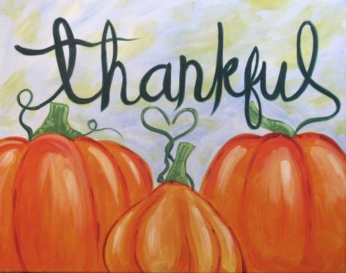 A Simply Be Thankful paint nite project by Yaymaker