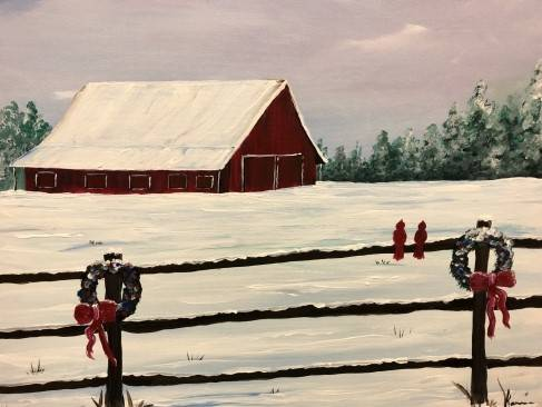 A Country Christmas II paint nite project by Yaymaker