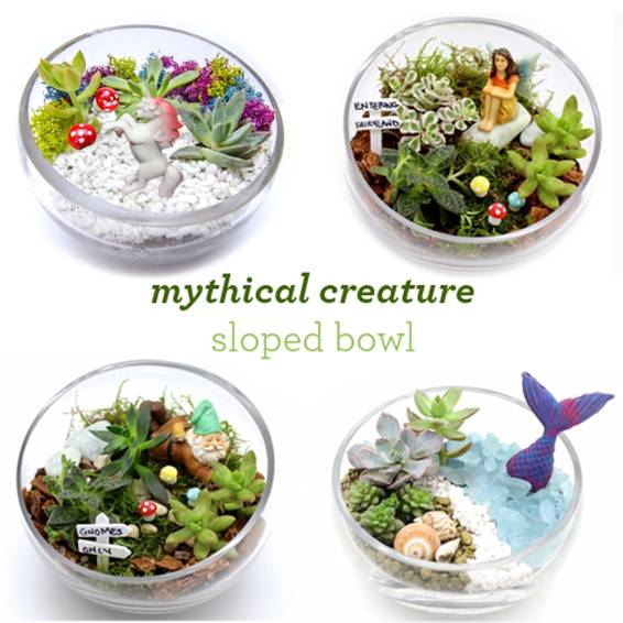 A Mythical Creature Sloped Bowl plant nite project by Yaymaker