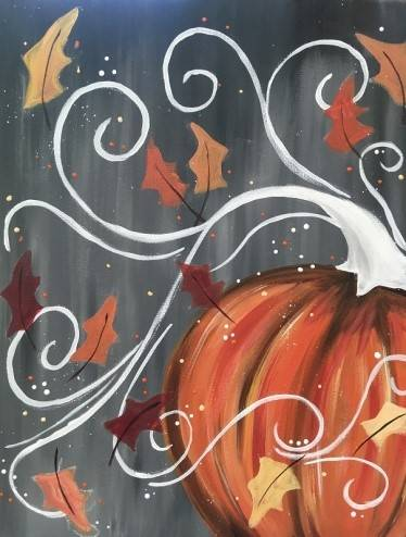 A Easy Breazy Pumpkin paint nite project by Yaymaker