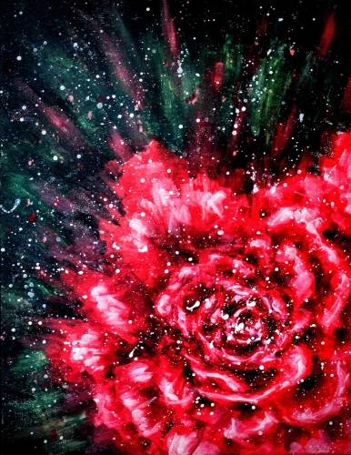 A Red Rose II paint nite project by Yaymaker