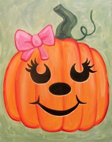 A Cutie Pumpkin paint nite project by Yaymaker