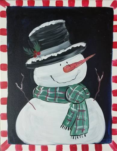 A Snowman of My Dreams paint nite project by Yaymaker