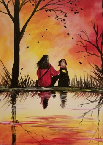 A Serenity in Autumn paint nite project by Yaymaker