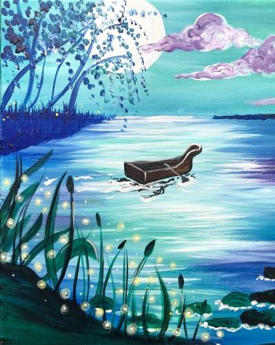 A Lake Moonlight paint nite project by Yaymaker