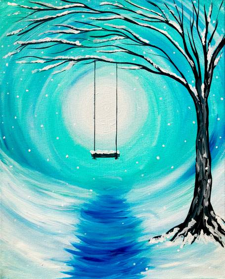 A Whimsical Winter II paint nite project by Yaymaker