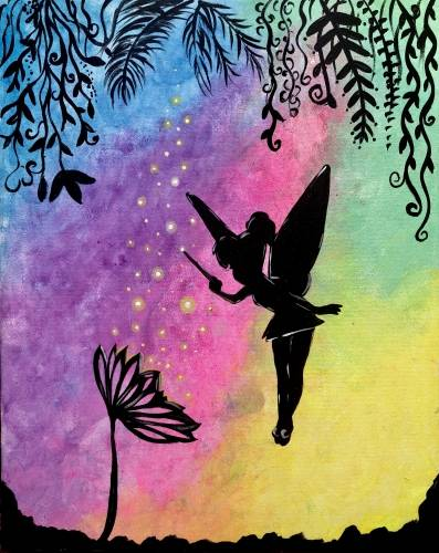 A Faith Trust and Fairy Dust paint nite project by Yaymaker