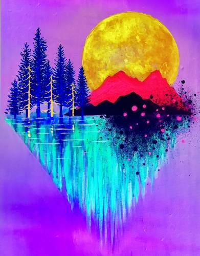 A Oasis Mountain Black Light paint nite project by Yaymaker