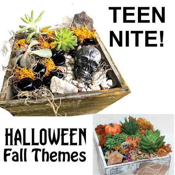 A Teen Nite HalloweenFall theme plant nite project by Yaymaker