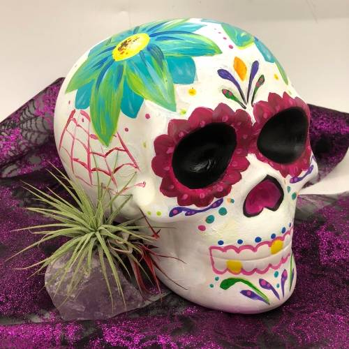 A Ceramic Skull Painting ceramic painting project by Yaymaker
