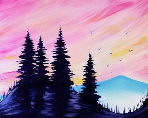 A Purple Pines paint nite project by Yaymaker