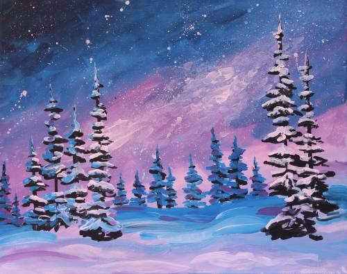 A Winter Night paint nite project by Yaymaker