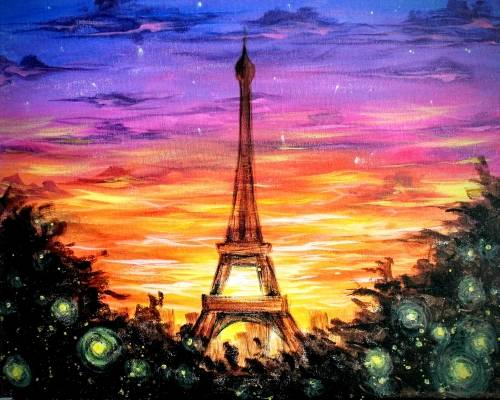 A Paris Sunset VI paint nite project by Yaymaker