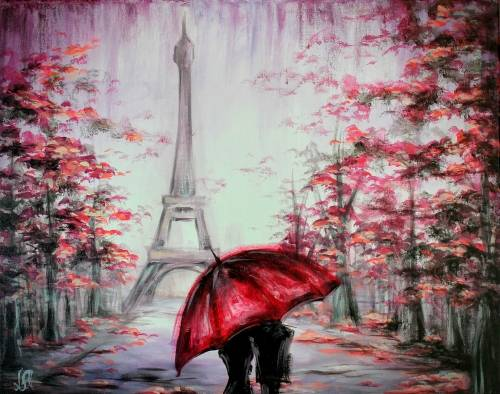 A Love In Paris III paint nite project by Yaymaker