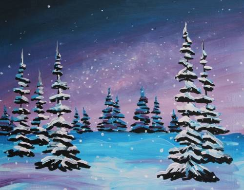 A Winter Night II paint nite project by Yaymaker