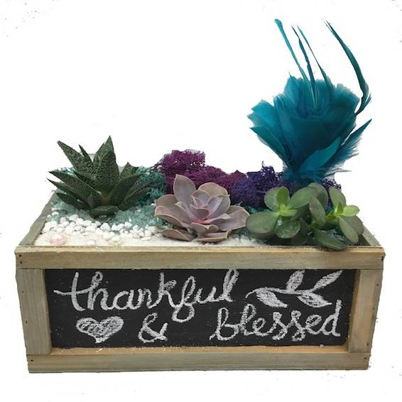 A Feather Chalkboard plant nite project by Yaymaker