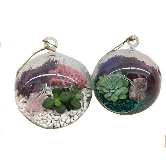A 2 Hanging Globes with Crystals plant nite project by Yaymaker