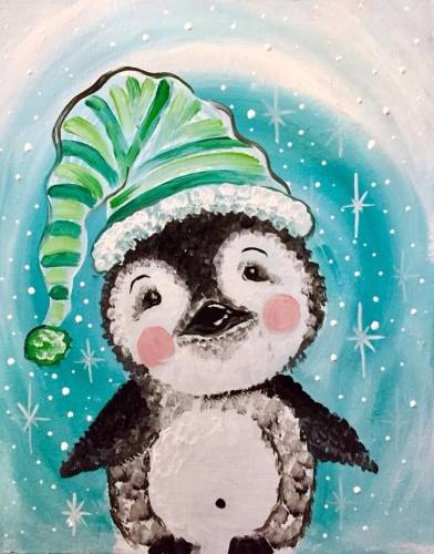 A Fuzzy Baby Penguin paint nite project by Yaymaker