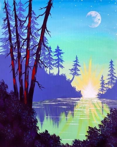 A Secret Lake paint nite project by Yaymaker