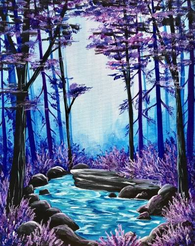 A Secret Lagoon paint nite project by Yaymaker
