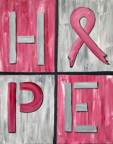 A Hope for Breast Cancer paint nite project by Yaymaker