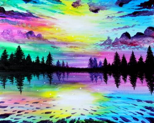 A Winters Majesty paint nite project by Yaymaker