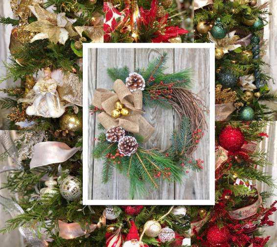 A Trim Your Live Wreath With Premium Ornaments plant nite project by Yaymaker