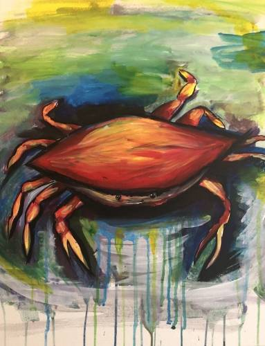 A Crab Splash paint nite project by Yaymaker