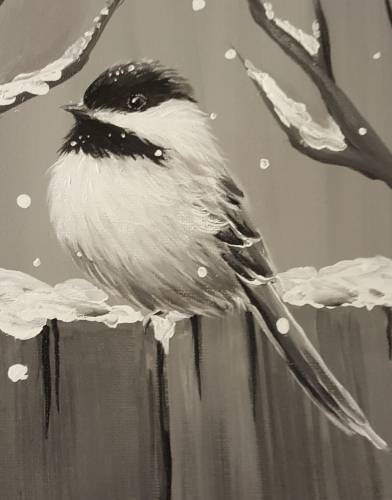 A Chubby Chilly Chickadee paint nite project by Yaymaker