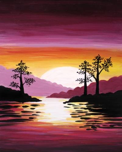 A The Golden Hour paint nite project by Yaymaker