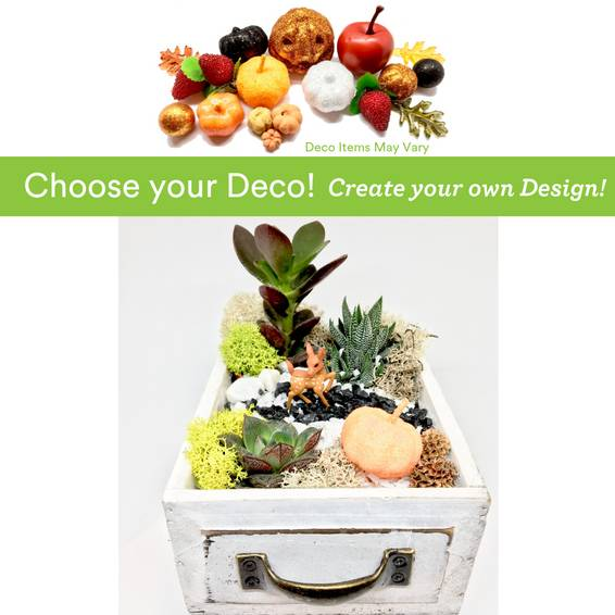 A Choose your Deco  Autumn Harvest Deer Drawer plant nite project by Yaymaker