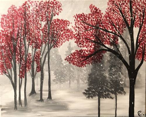A Seasons First Snow paint nite project by Yaymaker