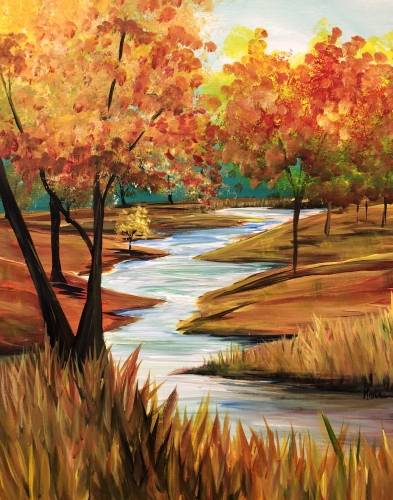 A Autumn Stream III paint nite project by Yaymaker