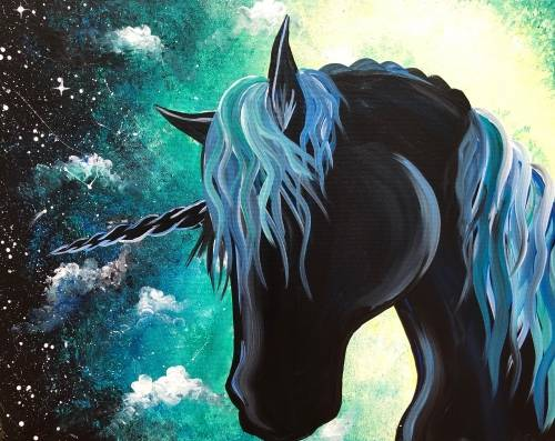 A Unicorn Magic II paint nite project by Yaymaker
