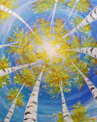 A Beautiful Birches paint nite project by Yaymaker