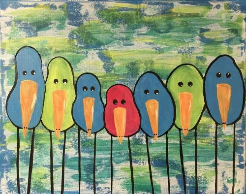 A Birds of a Feather IV paint nite project by Yaymaker