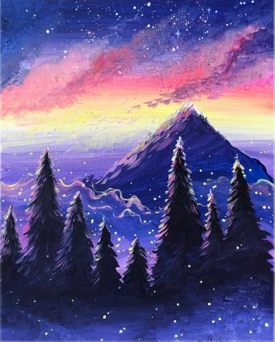 A Dreamy Mountain paint nite project by Yaymaker